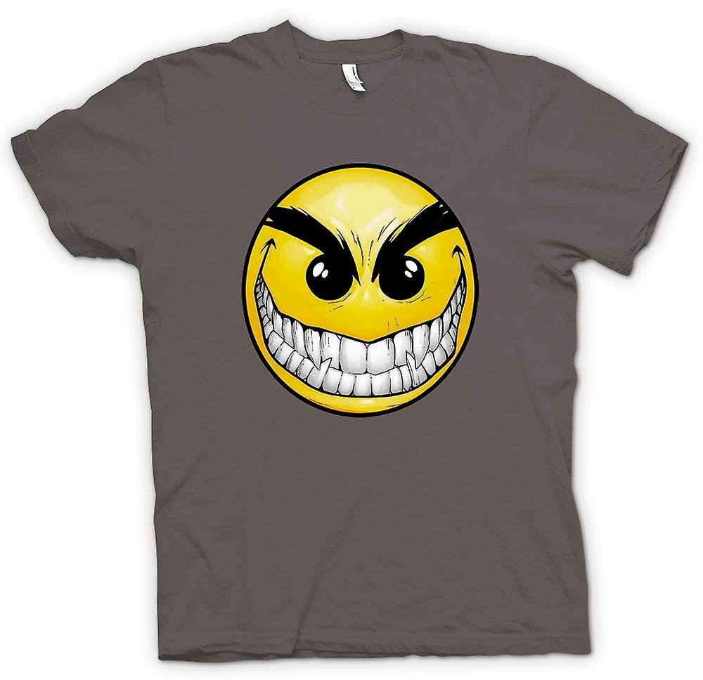 Womens T-shirt-Smiley Face - tänder - Acid House