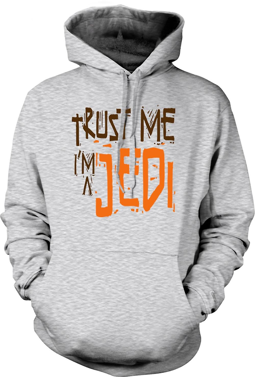 Para hombre con capucha - confía en mí yo soy un Jedi - gracioso