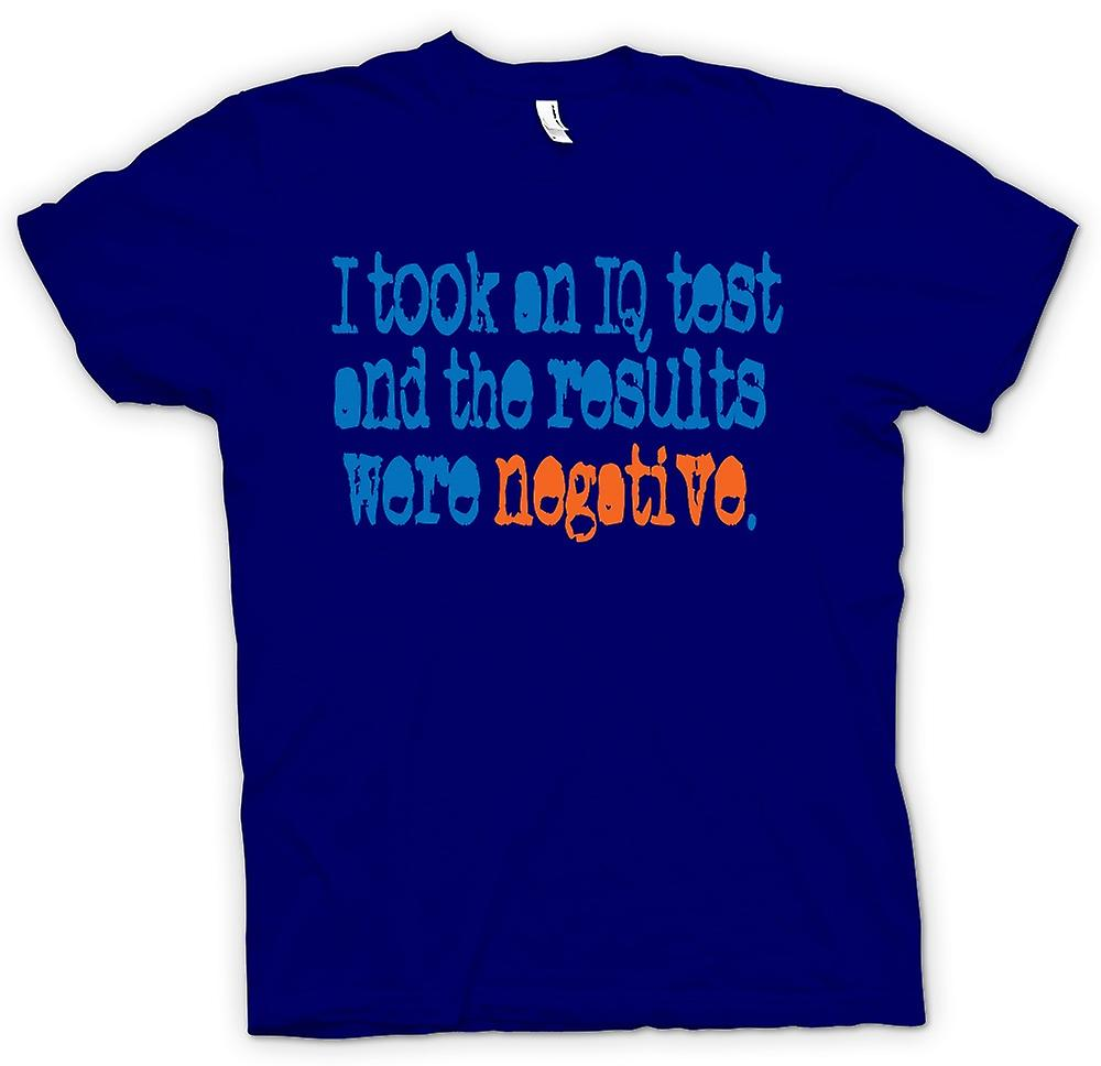 Mens T-shirt - I Took An IQ Test And The Results Were Negative