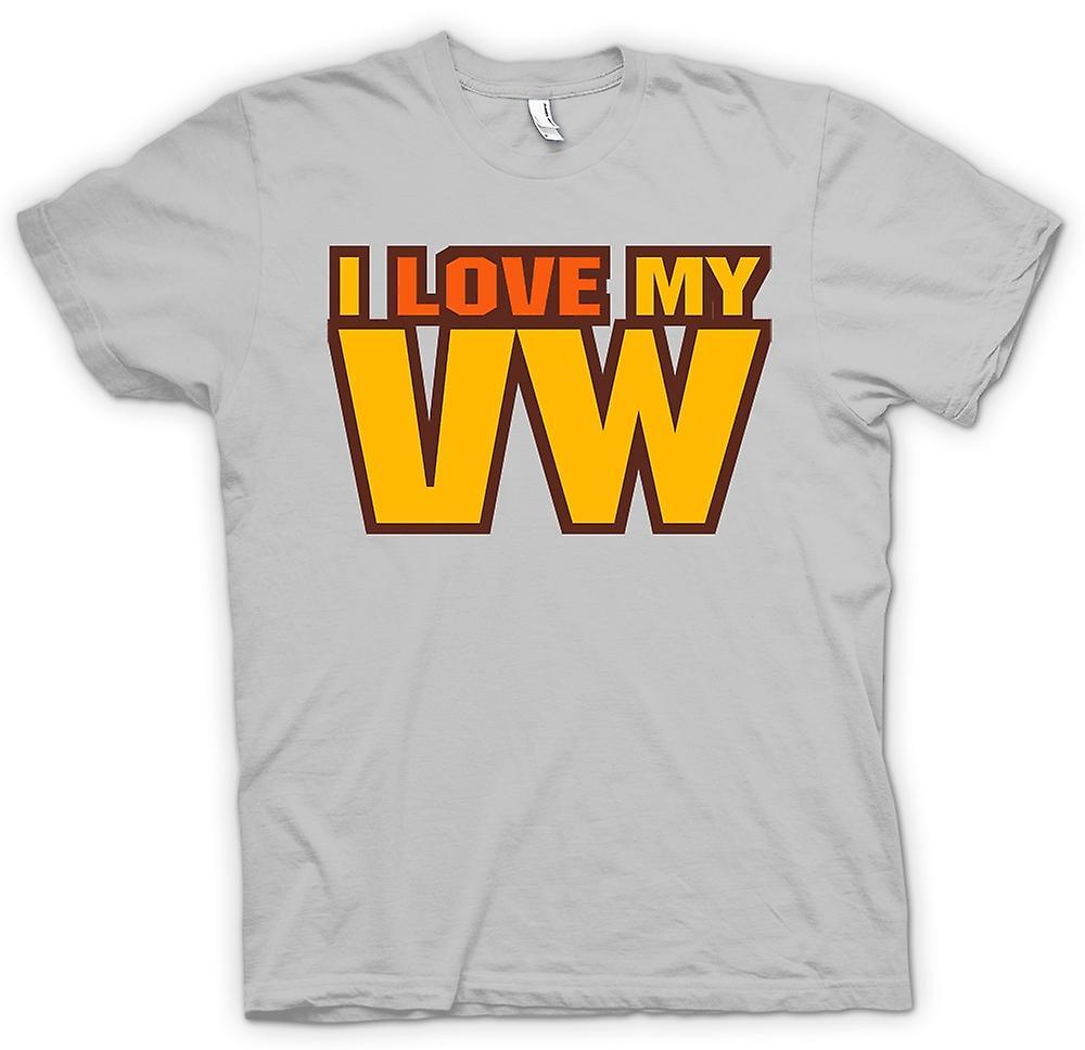 Mens T-shirt - I Love My VW - Car Enthusiast
