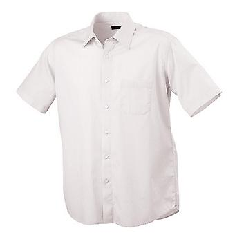 James and Nicholson Mens Classic Fit Short Sleeved Shirt