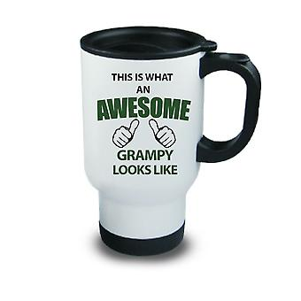 This Is What An Awesome Grampy Looks Like Metal Travel Mug