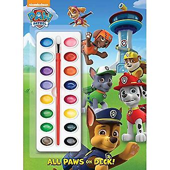 All Paws on Deck! [With Paint Brush and Paint] (Paw Patrol)