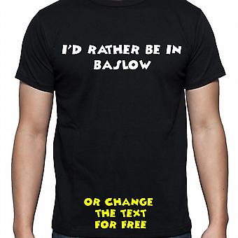 Ik had eerder worden In Baslow Black Hand gedrukt T shirt