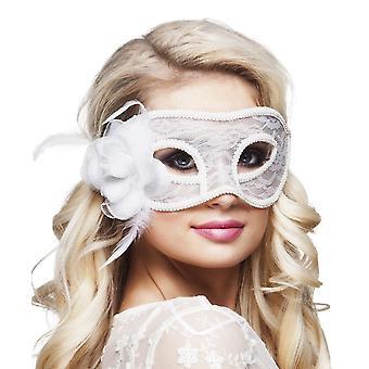 Masque dentelle blanc Mystique déguisements accessoires