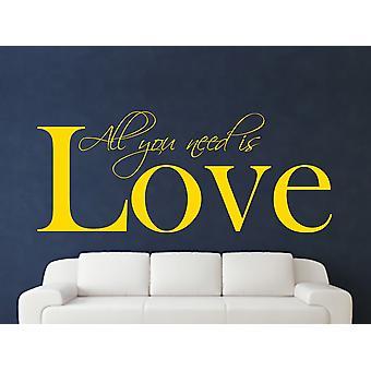 All You Need Wall Art Sticker - Dark Yellow