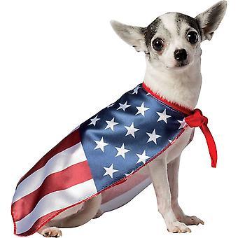 Флаг США собака костюм 2