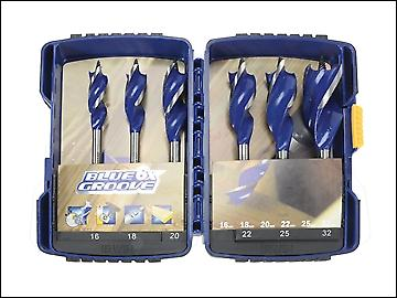 IRWIN 6x Blue Groove Wood Drill Bit Set of 6: 16, 18, 20, 22, 25 & 32mm