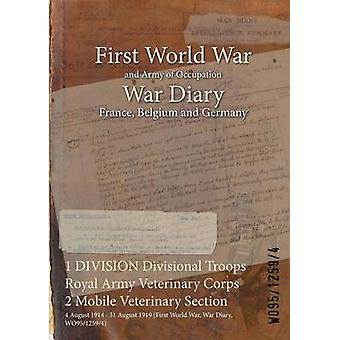 1 DIVISION Divisional Troops Royal Army Veterinary Corps 2 Mobile Veterinary Section  4 August 1914  31 August 1919 First World War War Diary WO9512594 by WO9512594
