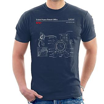 NASA Navigationshilfen Blueprint Herren T-Shirt