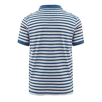 Witte & blauwe Slazenger Vintage korte mouw poloshirt