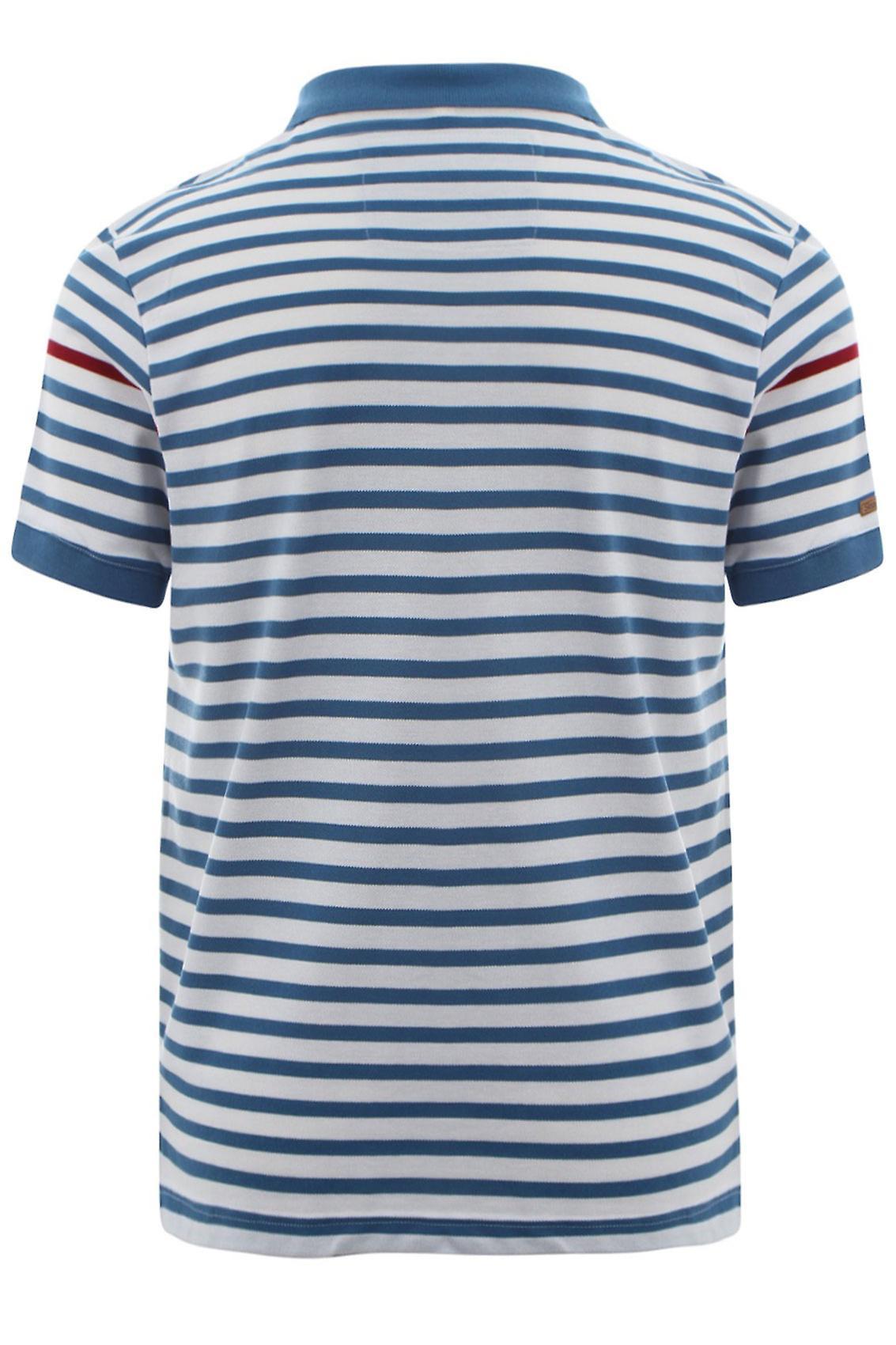 White & Blue Slazenger Vintage Short Sleeve  Polo Shirt