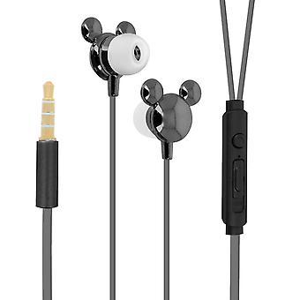 Mickey Disney słuchawki zestaw głośnomówiący earbud silikonowy czarny