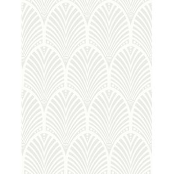 Gatsby Art Déco Glitter Wallpaper Dove Grey et White Holden Decor