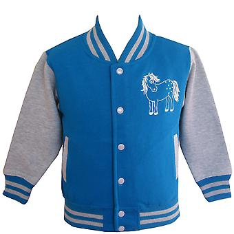 British Country Collection Twinkle Baseball Kids Jacket - Bleu