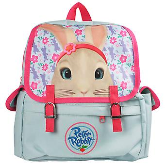 Childs Peter Rabbit Lily pale blue and pink satchel backpack