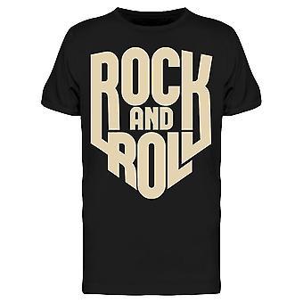 Rock Music Slogan Tee Men's -Image by Shutterstock