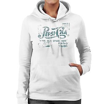 Pepsi Cola Wins Our Straw Vote Women's Hooded Sweatshirt