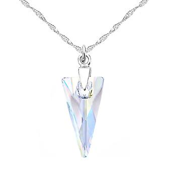 Ah! Jewellery Sterling Silver, Aurore Boreale Crystals From Swarovski Spike Necklace, Stamped 925