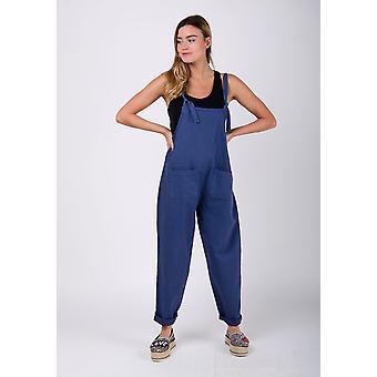 Roxanne linen jumpsuit blue