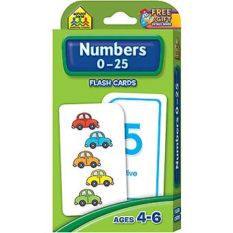 Flash Cards Numbers 0 25 54 Pkg Szflc 4022
