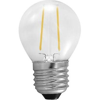 LED (monochrome) Segula 230 V E27 2 W = 25 W Warm white EEC: A++ Droplet (Ø x L) 45 mm x 75 mm Filament 1 pc(s)