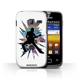 STUFF4 Case/Cover for Samsung Galaxy Y Duos/S6102/Stretch White/Rock Star Pose