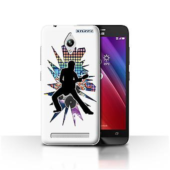 STUFF4 Case/Cover for Asus Zenfone Go ZC500TG/Stretch White/Rock Star Pose