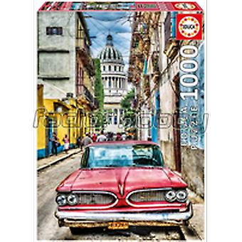 Educa Car in La Habana, 1000 Pieces (Kids , Toys , Table games , Puzzles)