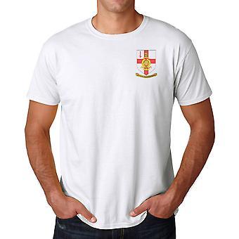 RMR Londres cresta bordada Logo - oficiales Royal Marines - Ringspun T Shirt