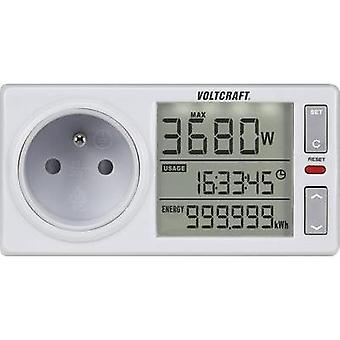 Energy consumption meter VOLTCRAFT 4500ADVANCED FR built-in child safety guard, Sele