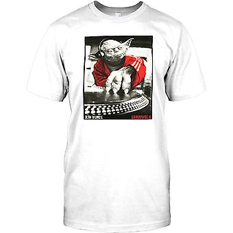 Yoda DJ - Jedi Tunes - Cool Star Wars Inspired Mens T Shirt