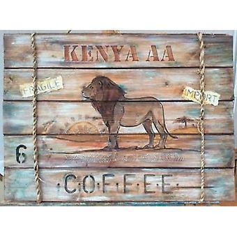 Kenya AA Coffee Poster Print by PS Art Studios