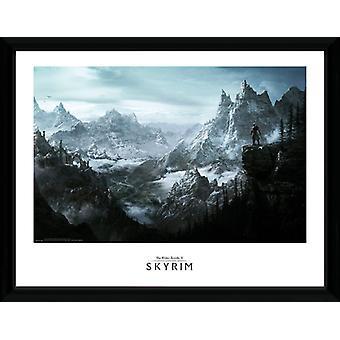 Vista de Skyrim emoldurado impressão de colecionador