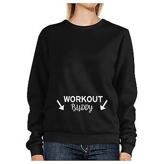 Trening kompis svart Sweatshirt treningsøkt Pullover Fleece Sweatshirts