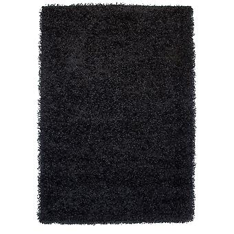 Black Shaggy Fireplace Rug Ontario