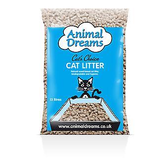 Animalske drømme kat valg Woodbase kat kuld 15ltr
