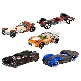 Hot Wheels Pack 5 køretøjer Star Wars Episode Vii