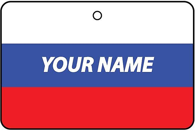 Russia Flag Personalised Car Air Freshener