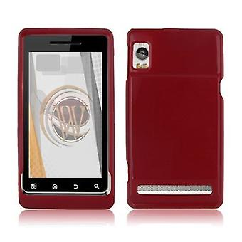 OEM Verizon Hard Rubberized Snap-On Case for Motorola Droid 2 Global A956 (Red)