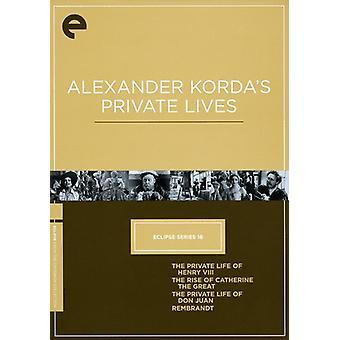 Alexander Kordas privata [DVD] USA import