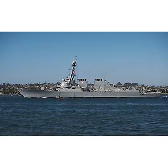 San DIego California November 5 2013  The Arleigh Burke-class guided-missile destroyer USS Howard transits the San Diego Bay Poster Print