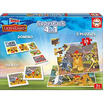 Educa Super Pack 4 i 1 Lionguard (legetøj, brætspil, Magic)