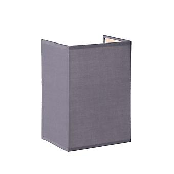 Lucide CORAL Wall Light  E14 Shade Rectan. H20cm Grey