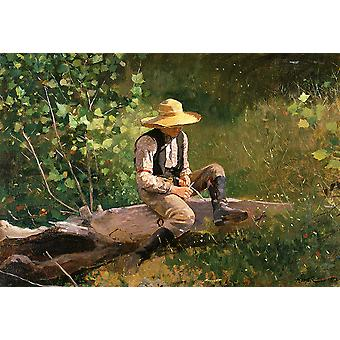 Winslow Homer - The whittling boy Poster Print Giclee