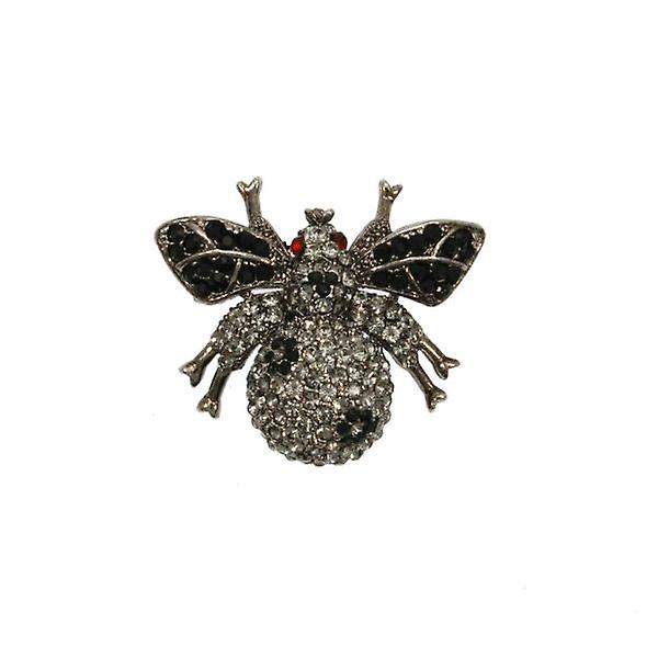 W.A.T Swarovski Crystal Fat Bug Brooch