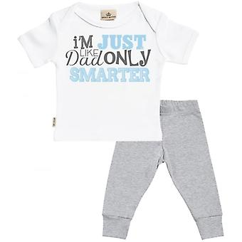 Spoilt Rotten Like Daddy Only Smarter Baby T-Shirt & Baby Jersey Trousers Outfit Set