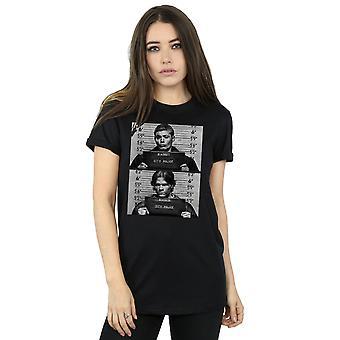 Supernatural Women's Winchester Mugshots Boyfriend Fit T-Shirt