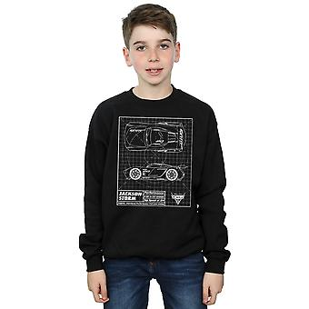 Disney Boys Cars Jackson Storm Blueprint Sweatshirt