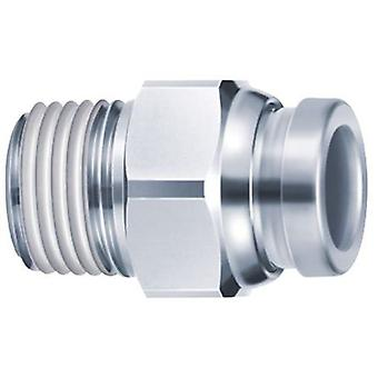 SMC Connector, R 1/4 Male, Push In 10 Mm